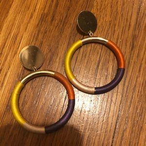 H&M Multi-colored hoop earrings